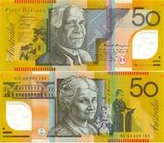 2 банкноты по 50 австралийских долларов
